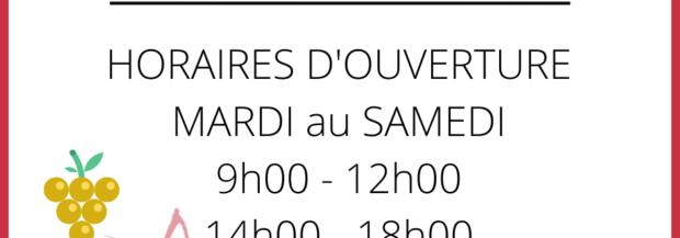 ⏰ Nouveaux horaires 🍇